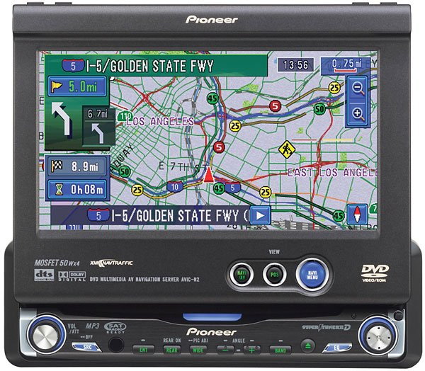 """Pioneer AVIC-N2 DVDCDnavigation receiver with 6.5"""" monitor"""