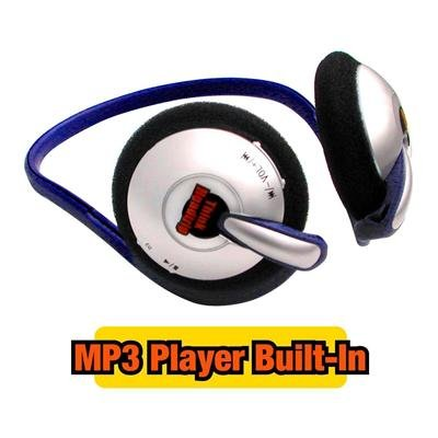 """Think Headtrip 256MB """"Wireless"""" MP3 Player & Headphones in One"""