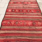 """Moroccan rug Azilal carpet  Berber very old 133'85"""" x62'99"""""""