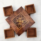 Hand-Carved Rustic Jewelry Box, Moroccan Thuya Wood Box, Handmade Box,Magic Box