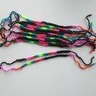 Friendship Bracelets, Crocheted Bracelets, Nean Color Bracelet, Lot of 5 .