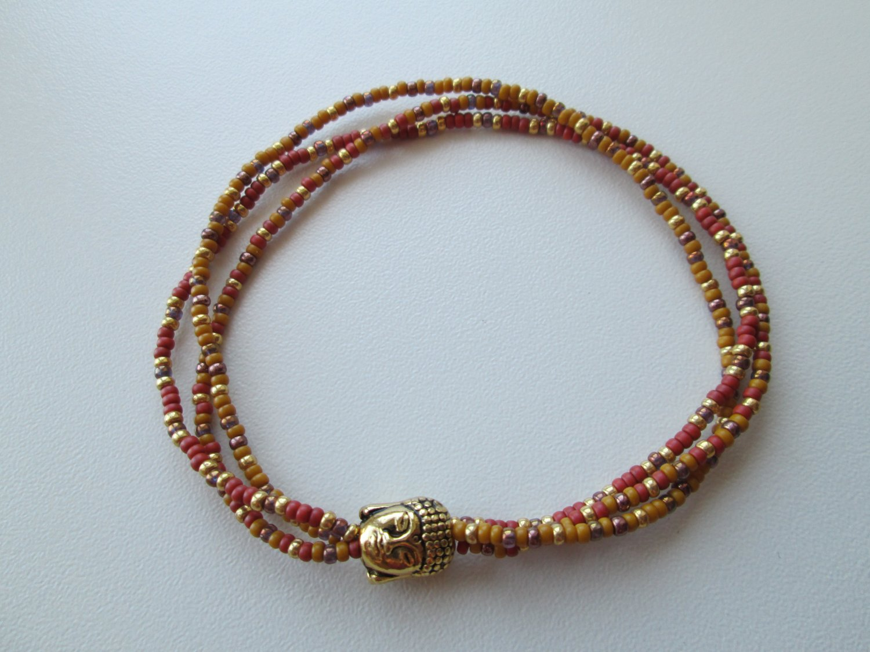 Seed Bead Bracelet, Boho Jewelry, Wrap Bracelet, Beaded Bracelet.