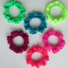 Crochet Scruchies, Hair Scrunchies, Neon Color.