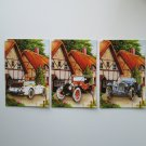 Greeting Card Set of 3 Oldtimer Cars.