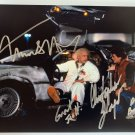 Back to the Future cast signed autographed 8x12 photo photograph Michael J. Fox