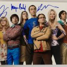 The Big Bang Theory cast signed autographed 8x12 photo photograph Kaley Cuoco Jim Parsons