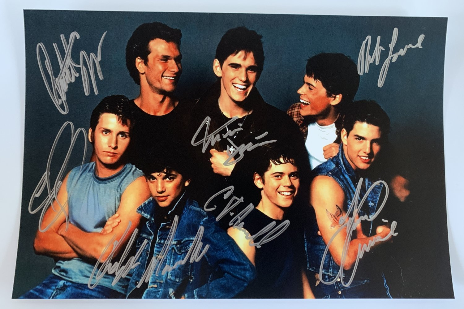 The Outsiders cast signed autographed 8x12 photo photograph Patrick Swayze Tom Cruise