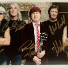 ACDC band signed autographed 8x12 photo photograph Malcolm Young Angus Young