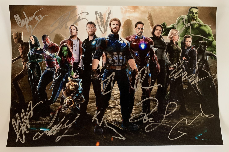 The Avengers Infinity War cast signed autographed photo photograph Robert Downey Jr.
