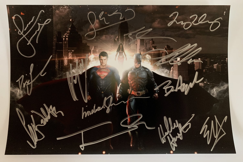 Batman Vs Superman cast signed autographed photo photograph Ben Affleck Henry Cavill