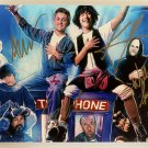 Bill and Ted's Excellent Adventure cast signed autographed 8x12 photo Keanu Reeves photograph
