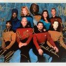 Star Trek The Next Generation cast signed autographed 8x12 photo Patrick Stewart