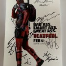 DEADPOOL cast signed autographed 8x12 photo photograph Ryan Reynolds