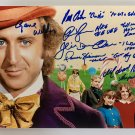 Willy Wonka and the Chocolate Factory cast signed autographed 8x12 photo Gene Wilder