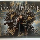 Game of Thrones cast signed autographed 8x12 photo Kit Harington Emilia Clarke