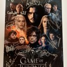 Game of Thrones cast signed autographed 8x12 photo Kit Harington Lena Headey