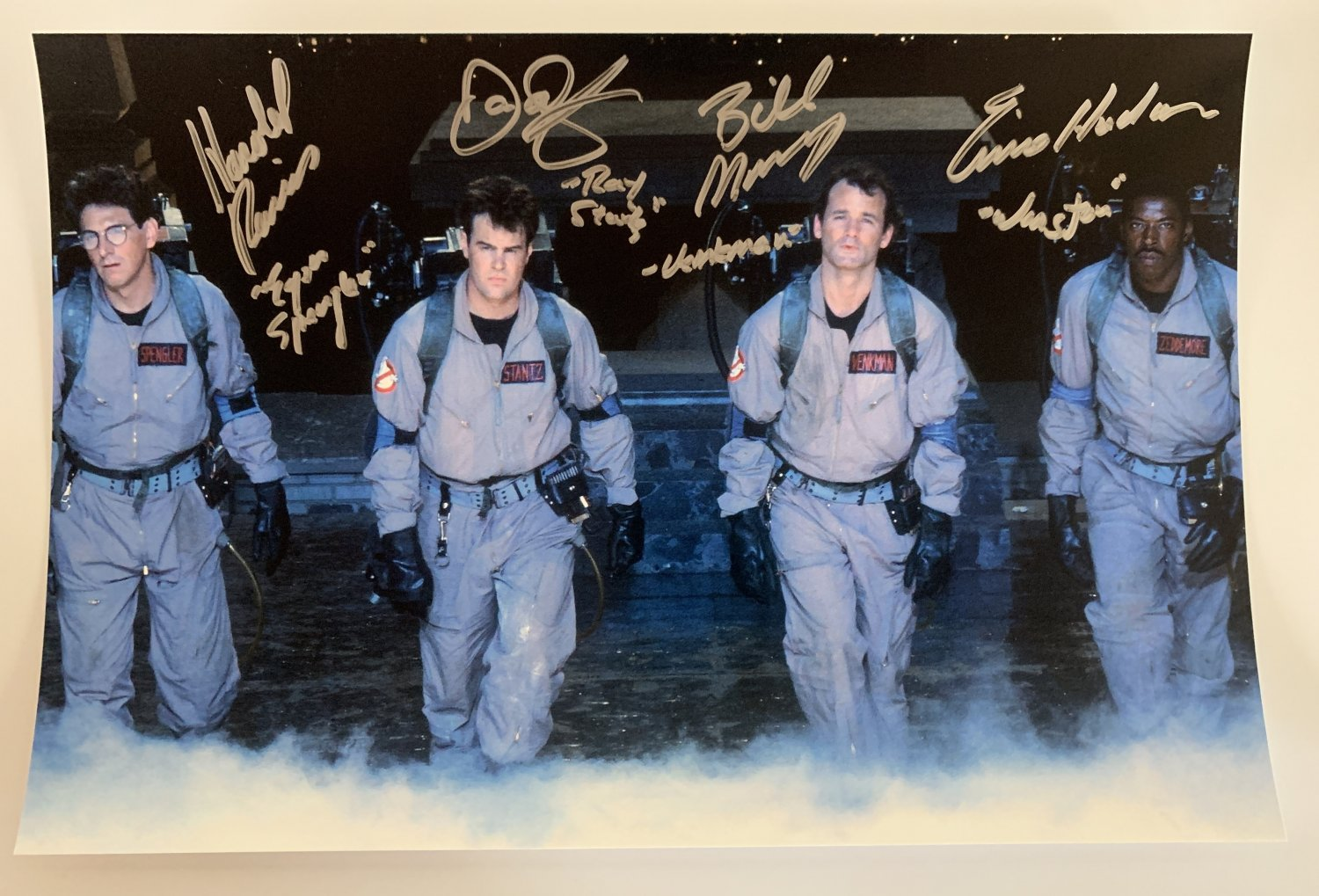 Ghostbusters cast signed autographed 8x12 photo photograph Bill Murray Harold Ramis