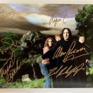 Harry Potter cast signed autographed 8x12 photo Daniel Radcliffe Alan Rickman