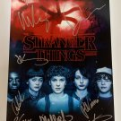 Stranger Things cast signed autographed 8x12 photo Winona Ryder Millie Bobby Brown