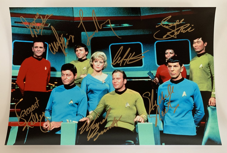 Star Trek 1966 cast signed autographed 8x12 photo William Shatner Leonard Nimoy