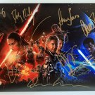 Star Wars cast signed autographed 8x12 photo Harrison Ford Carrie Fisher Daisy Ridley