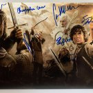 The Lord of the Rings cast signed autographed 8x12 photo Ian McKellen Christopher Lee