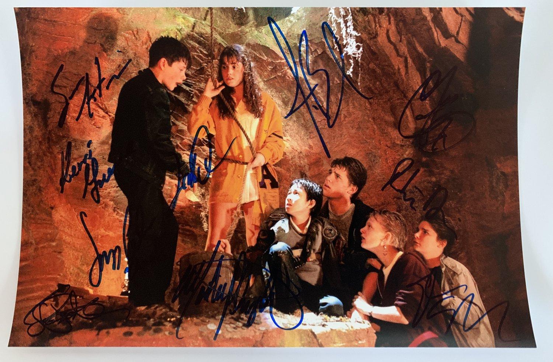 The Goonies cast signed autographed 8x12 photo Corey Feldman Sean Astin