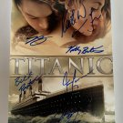 Titanic cast signed autographed 8x12 photo Leonardo Dicaprio Kate Winslet Bill Paxton