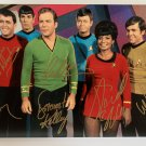 Star Trek 1966 cast signed autographed 8x12 photo William Shatner Deforest Kelley