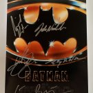 Batman 1989 cast signed autographed 8x12 photo Michael Keaton Jack Nicholson