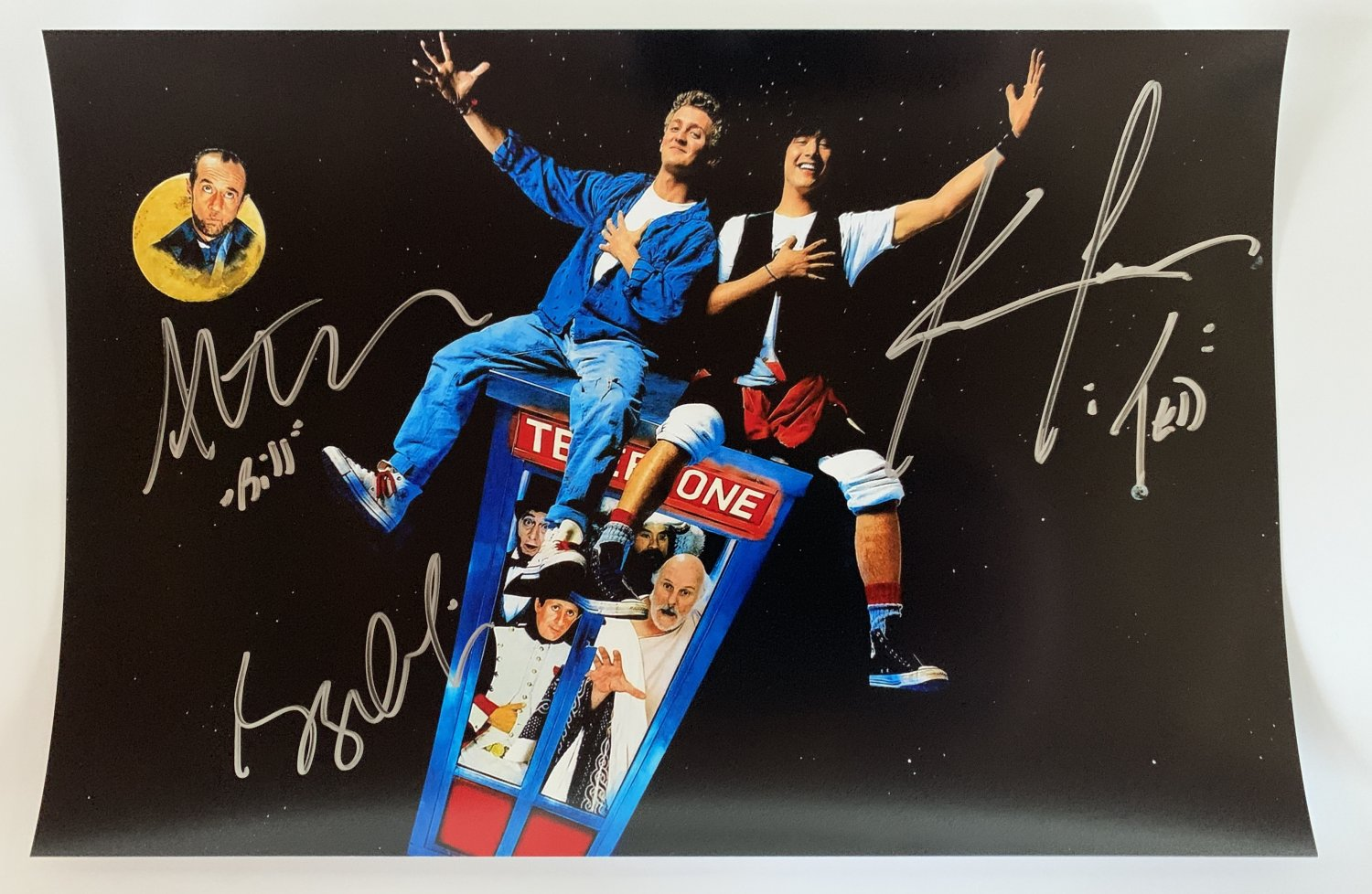 Bill and Ted's Excellent Adventure cast signed autographed 8x12 photo Keanu Reeves