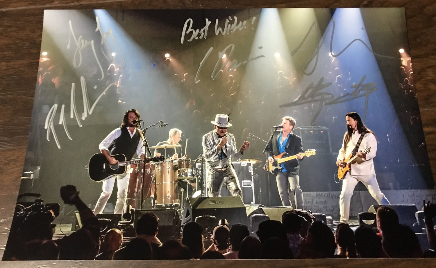 The Tragically Hip band signed autographed 8x12 photo Gord Downie LAST CONCERT