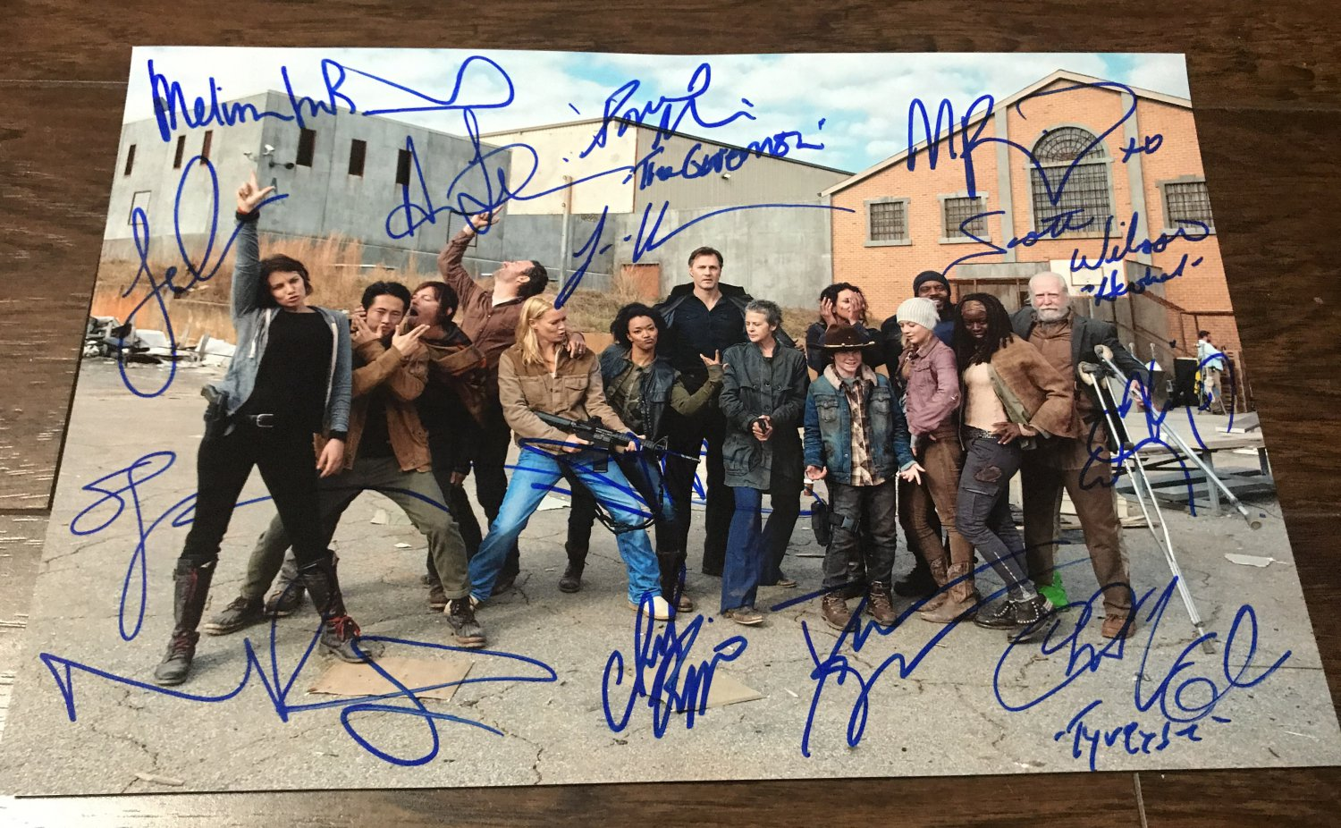 The Walking Dead cast signed autographed 8x12 photo Andrew Lincoln Danai Gurira