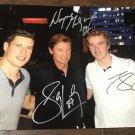 Sidney Crosby Wayne Gretzky Connor McDavid triple autographed 8x12 photo rc rookie auto