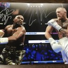 Floyd Mayweather Jr. Connor Mcgregor dual signed autographed 8x12 photo photograph MMA Boxing