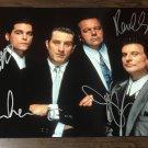 Goodfellas cast signed autographed 8x12 photo Robert De Niro Joe Pesci