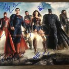 Justice League cast signed autographed 8x12 photo Ben Affleck Jason Momoa