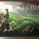 The Hobbit cast signed autographed 8x12 photo Ian McKellan Martin Freeman