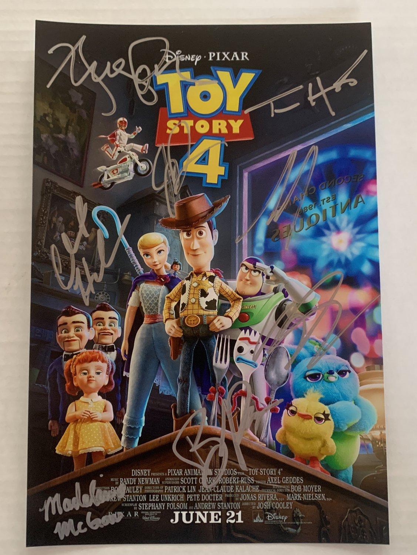 Toy Story 4 cast signed autographed 8x12 photo Tom Hanks Tim Allen photograph