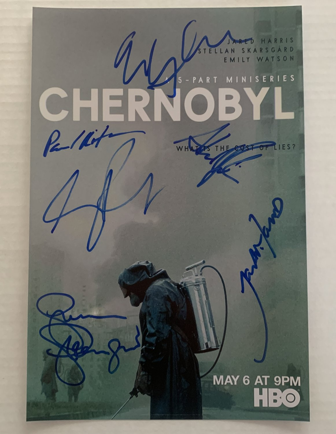 Chernobyl cast signed autographed 8x12 photo Jared Harris Emily Watson Stellan Skarsgard HBO