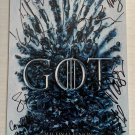 Game of Thrones Season 8 cast signed autographed 8x12 photo Kit Harington Emilia Clarke