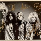 Guns N' Roses band signed autographed 8x12 photograph Slash Axl Rose COA photo