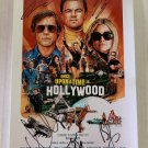 Once Upon a Time in Hollywood cast signed autographed 8x12 photo Leonardo Dicaprio Brad Pitt