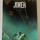 JOKER 2019 cast signed autographed 8x12 photo Joaquin Phoenix photograph autographs