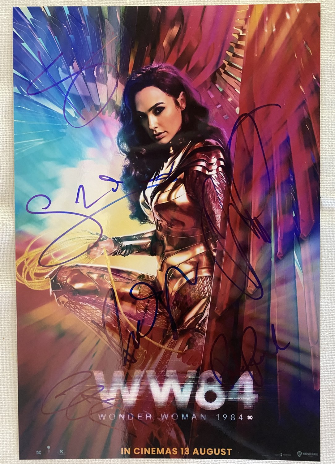 Wonder Woman 1984 cast signed autographed 8x12 photo Gal Gadot Chris Pine WW84