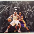 Kobe Bryant Lebron James dual signed autographed 8x12 photo photograph NBA rc