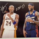 Kobe Bryant Lebron James signed autographed 8x12 photograph photo rc autographs