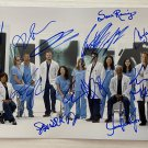 Grey's Anatomy cast signed autographed 8x12 photo Ellen Pompeo Patrick Dempsey