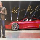Elon Musk signed autographed 8x12 photo photograph TESLA CEO SpaceX