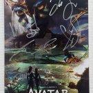Avatar 2 The Way of Water cast signed autographed 8x12 photo photograph Sam Worthington Zoe Saldana